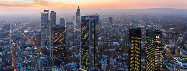 Sundown in Frankfurt