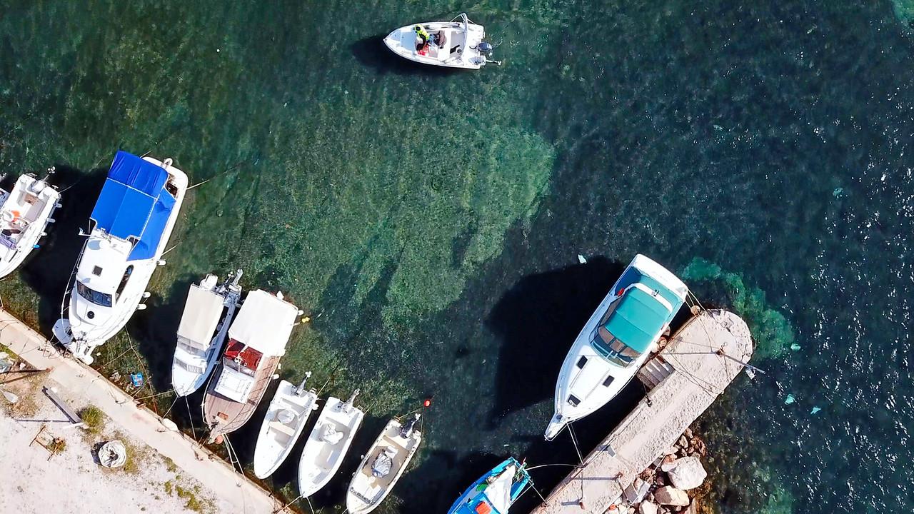 AERIAL DRONE VIDEO DEMO from  Agios Kosmas Bay