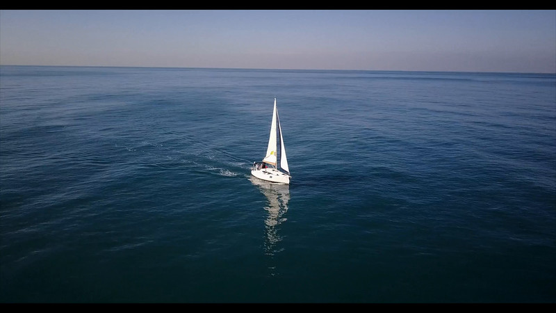 Sailing off the coast of Israel