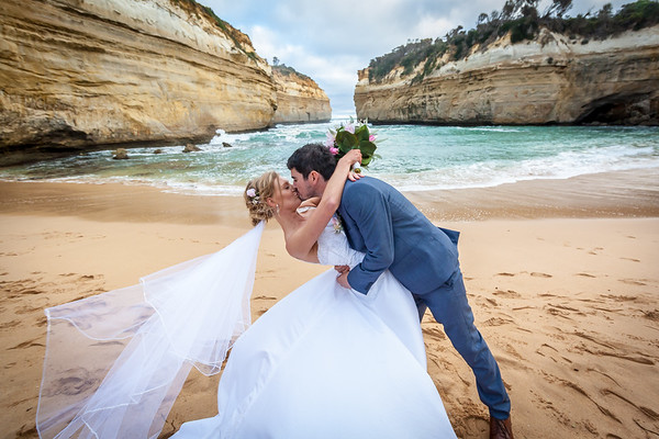 loch ard gorge wedding kiss