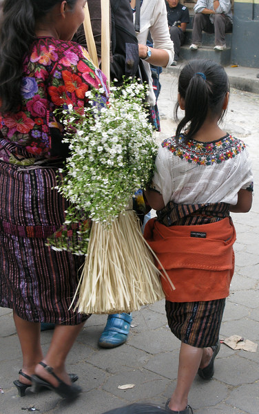 Mother and Daughter in Chichicastenango, Guatemala