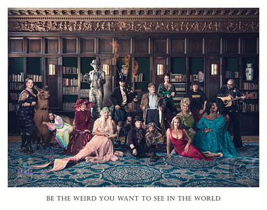 """BE THE WEIRD - Portland, OR, USA  I was truly honored to photograph Portland's weirdest, who assembled for an historic photoshoot capturing the true spirit of the city, amid the threat of violent protests in the Rose City.    Weird Portland United is an organization that celebrates and supports weirdness in Portland, Oregon and beyond.  They are now proud to offer the finished piece as a limited edition fine art print raising funds for a grant program that will support Portlanders looking to turn their own weird ideas into a reality. Pre-order today from the link below, and you may be able to have it signed by the stars on Nov 7th at the Weird Portland Gala! #BeTheWeird 📸🦙🎸  Weird Portland United's motto is: """"Keeping seriously weird, and taking weird seriously.""""   That's the kind of philosophy I can truly get behind.  Here's the link to buy the print:  https://www.weirdportlandunited.org/print/  Thanks to Weird Portland United, all of the participants, and the people working hard behind the scenes: Brian, Nick, Mark, Liza, Strawberry Pickle, and of course my better half and photo partner Tanya, for this wonderfully weird event!  From left to right: Rocket Mean, Rojo the Llama (RIP), Samantha Hess, Lu Ann Trotebas, Mr. Statue, Una the Mermaid, The Unipiper, Toby Froud, Mayor Bud Clark, Daria Eliuk, Storm Large, Darcelle XV, Terry Currier, Poison Waters, John """"Elvis"""" Schroder  Stay weird out there!"""
