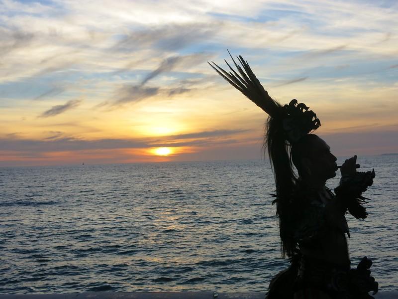 Tzinacan Tlamatini Heralding the Sunset, Puerto Vallarta, JAL