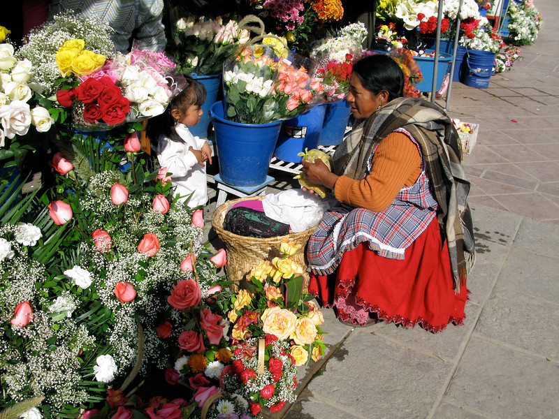 Flower Seller in Cuenca, Ecuador