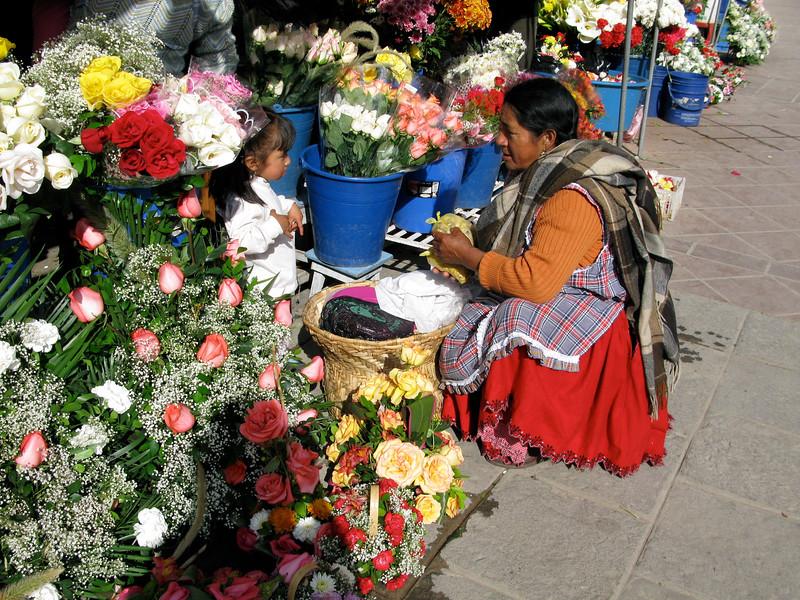 Flower Seller in Cuenca, Ecuador