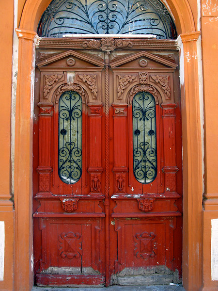 Door in Campeche, the Yucatan, MX