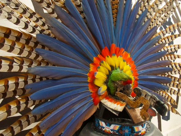Headress or Copili of Pochuk Before La Danza
