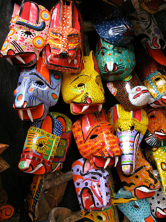 Masks in Chichicastenango, Guatemala