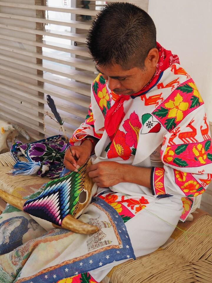 Huichol Artist, Bucerias, Nayarit