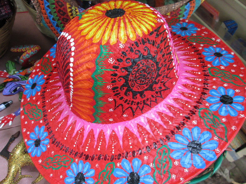 Painted Hat in Oaxaca