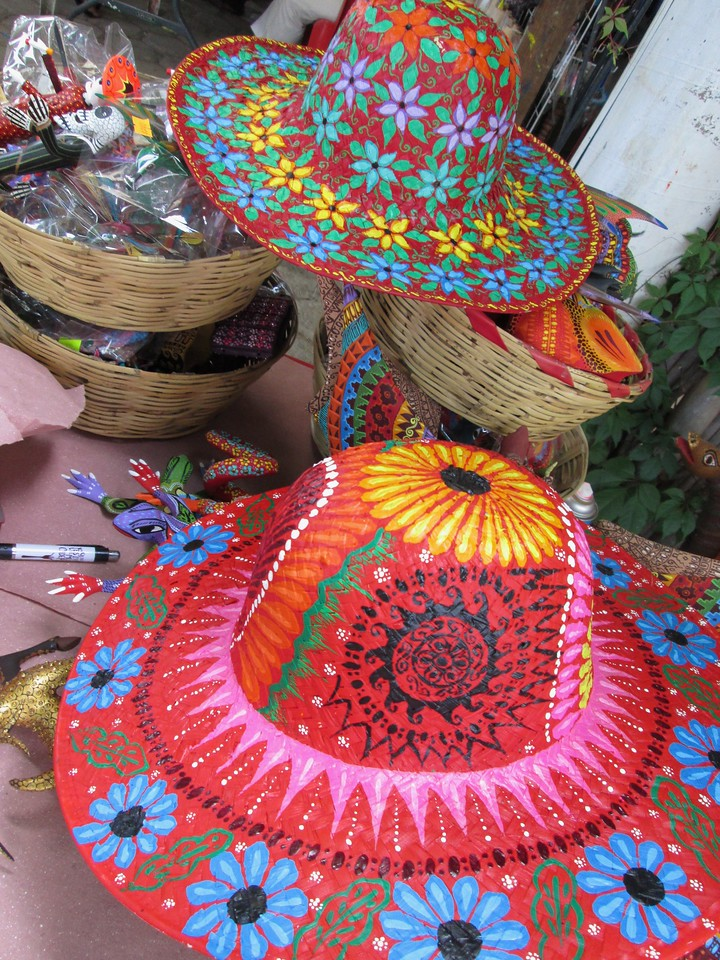 Painted Hats in Oaxaca
