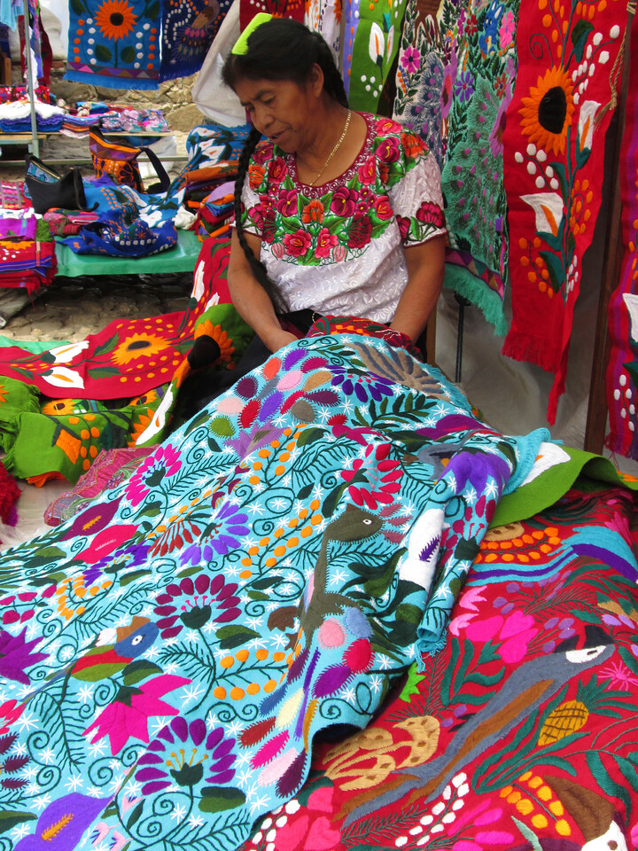 Mayan Artist in San Cristobal de las Casas, Oaxaca