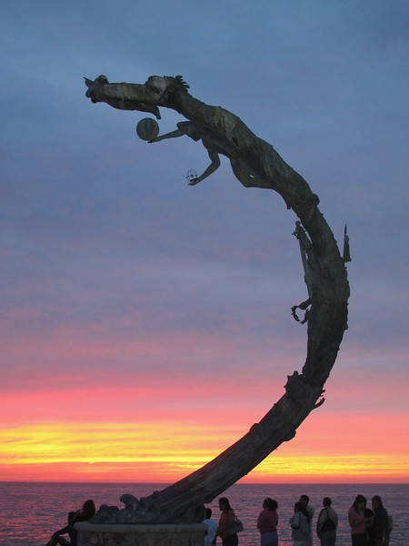 Sculpture at Sunset, Puerto Vallarta