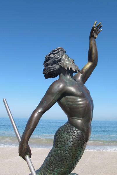 Merman Sculpture, Puerto Vallarta
