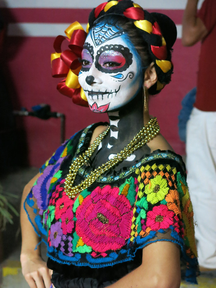 Folkloric Dancer, Day of the Dead, Puerto Vallarta, JAL
