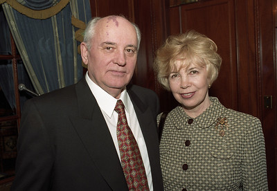 Former Soviet Union President Mikhail Gorbochev with wife Raisa