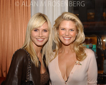 Models Heidi Klum & Christie Brinkley