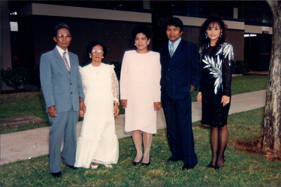 My Dad with Grandpa, Grandma, Auntie Sianing and Aunt Liz at my Grandparent's 50th wedding anniversery.