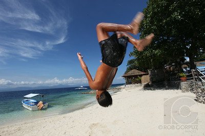 A BOY FLIPS - Moal Boal, Philippines