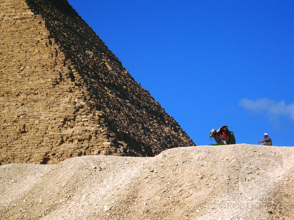 AT THE FOOT OF THE KHAFRE PYRAMID - Giza, Egypt