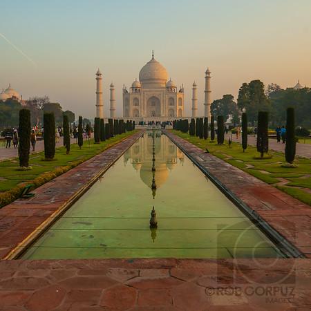 POND AND TAJ MAHAL - Agra, India