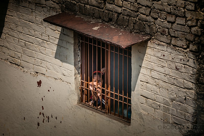 GIRL IN A WINDOW - Agra, India
