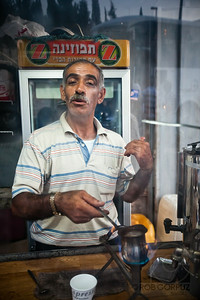 A MAN MAKES ME A COFFEE - Jerusalem, Israel