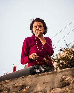 A WOMAN LOOKS DOWN AT ME - Jerusalem, Israel