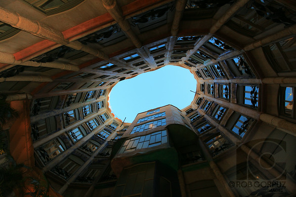 SKY THROUGH A BUILDING - Barcelona, Spain   Unedited.