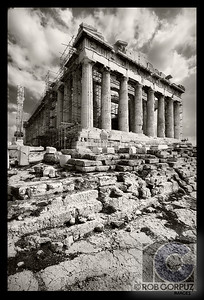 PARTHENON - Athens, Greece  I think it's pretty much impossible to take a truly original shot of something like this, which has been photographed countless times by countless people, but I had to try.