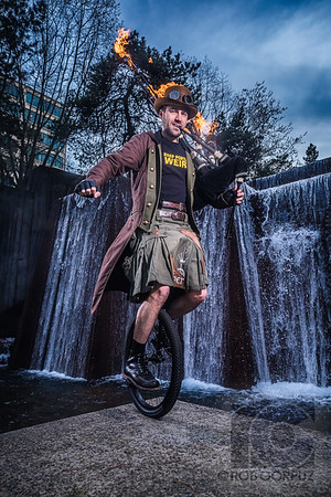 "THE HERO PORTLAND DESERVES - Portland, Oregon, USA  This is Brian, AKA ""The Unipiper,"" AKA ""The Defender of Weird.""  When he's not riding a unicylce while wearing a mask while playing flaming bagpipes, he's also the host of @PDXatTheMovies, and you can find out more about him, and how he keeps Portland weird, at the links below:  http://www.unipiper.com/ https://www.facebook.com/theunipiper/ https://www.instagram.com/theunipiper/ https://twitter.com/TheUnipiper"