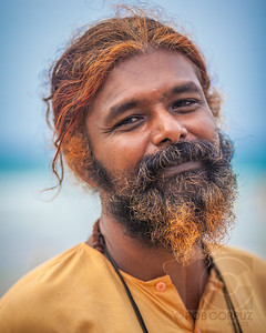 MAN AT THE BEACH - Varkala, India