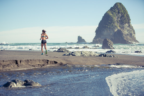 Deserted Beach Run - New Zealand