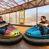 BUMPER CARS - Moscow, Russia<br /> <br /> The sign in the background basically says that crashing the cars is not allowed.