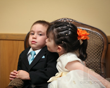 It's well known that weddings tend to significantly boost the amount of romance in the air, but this little dude doesn't seem to be buying it.