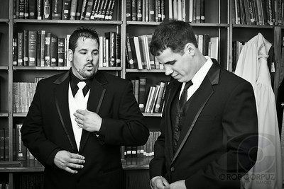Travis and bro/best man getting ready.