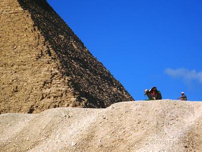 AT THE FOOT OF THE KHAFRE PYRAMID - Giza, Egypt