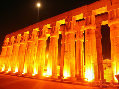 Believe it or not, this shot is unedited.  They do a great job of lighting up the Luxor temples, so as long as you stabilize your camera (I carried a cheap, $5 mini-tripod with me) anyone can get these colors.