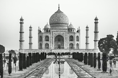 TAJ MAHAL IN MONOCHROME - Agra, India
