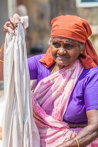 WOMAN DOING LAUNDRY - Cochin, India