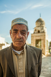 MAN AT THE DOME OF THE ROCK - Jerusalem, Israel