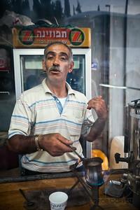A MAN MAKES ME A COFFEE - Jerusalem, Israel