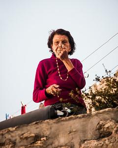 A WOMAN LOOKS DOWN AT ME - Jerusalem, Israel