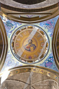 CEILING IN THE CHURCH OF THE HOLY SEPULCHRE - Jerusalem, Israel  Many believe that Jesus was crucified and buried where this church was built.