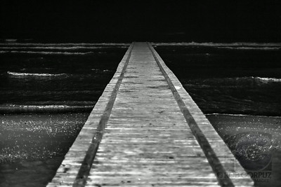 PIER AT NIGHT - Somewhere in northwest Italy