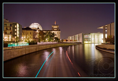 A BOAT SAILS THROUGH BERLIN - Berlin, Germany
