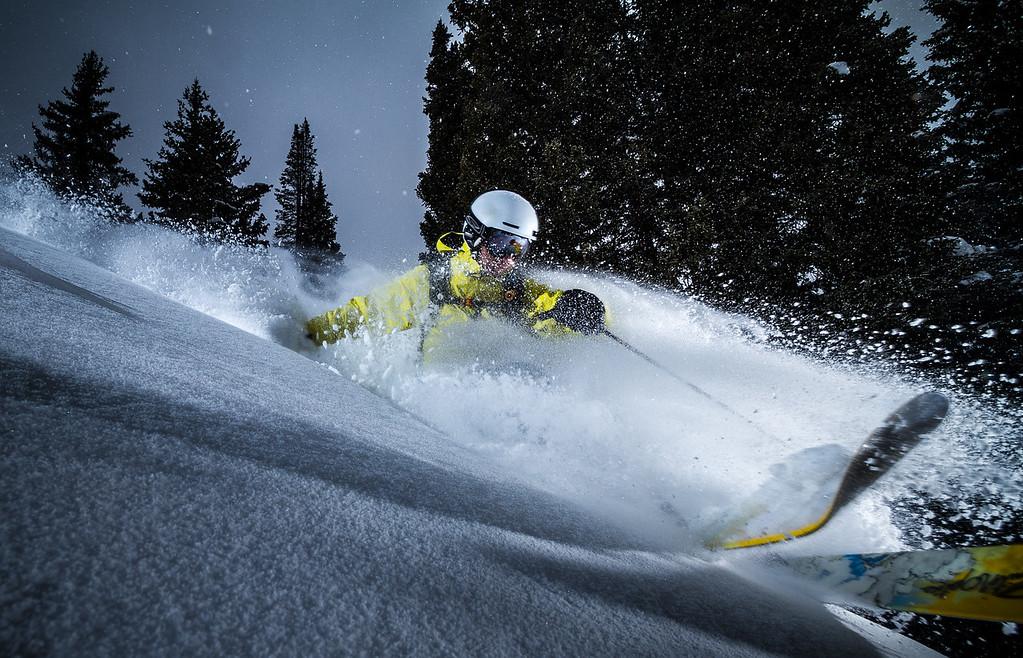 Moonlit Powder at Brighton Ski Resort