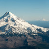 MT JEFFERSON, OREGON'S SECOND HIGHEST PEEK,  IS VISIBLE TO THE RIGHT OF MT HOOD