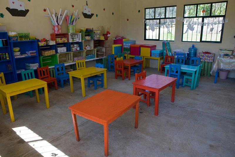 Intérieur d'une des salles de classe.