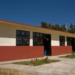 La dernière école, construite par la volonté des communautés indiennes venues s'installer à San Cristobal et avec le soutien de Sergio Castro.